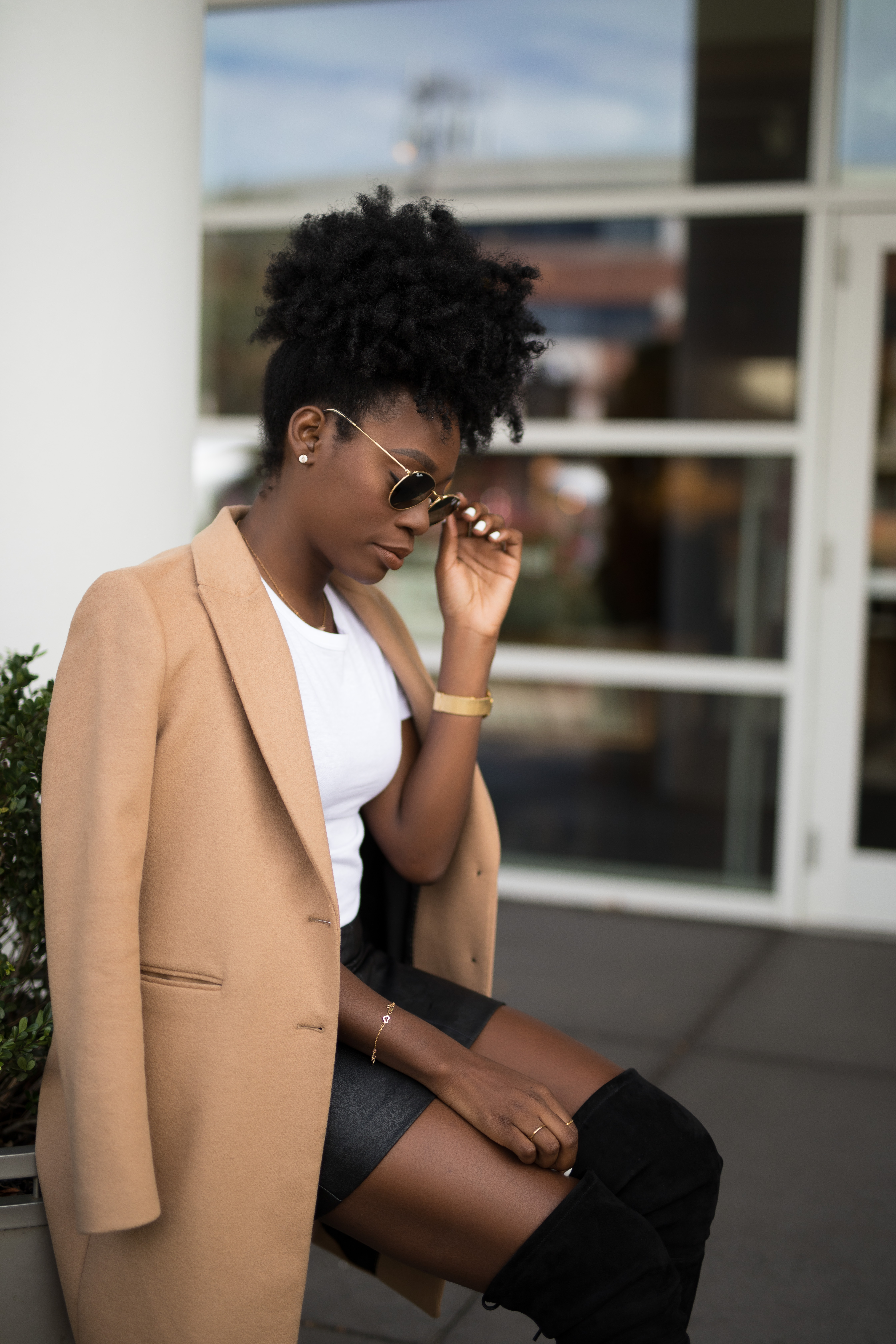 cb0015ee zara camel coat higland boots leather topshop skirt 2   Yours Truly ...